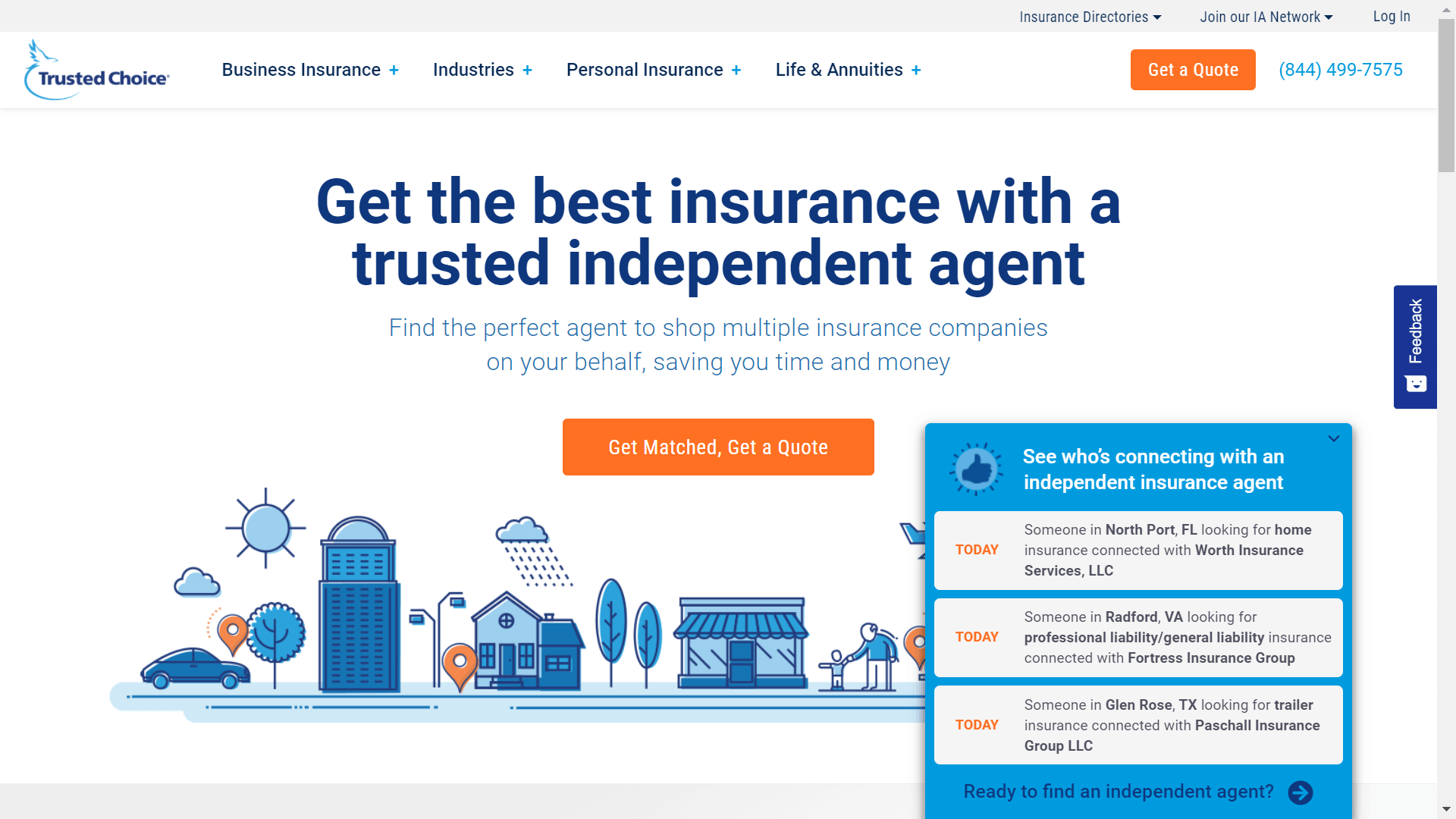 inicio de sitio web trusted choice